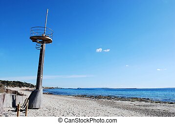 Watchtower - watchtower on the famous beach of Ses Salines,...