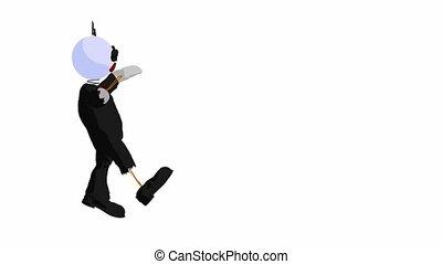 Little Drunk Guy Walking - Little drunk guy walking on a...