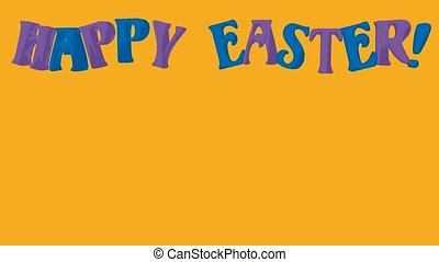 Happy Easter - Happy easter animation on a yellow background