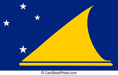 Tokelau (New-Zeland) flag