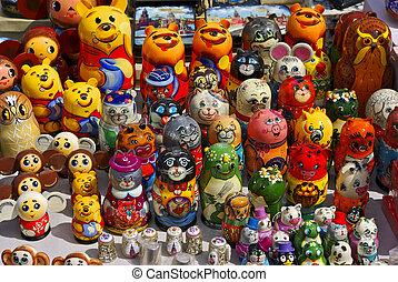 """Russian dolls - """"matrioska"""" (modern). Wood craft. Shop:..."""