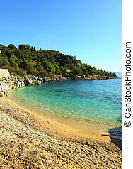 Nissaki beach, Corfu, vertical - The small but delightful...
