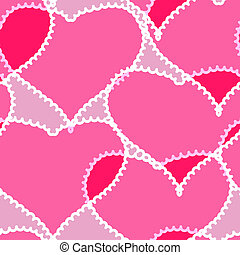 Abstract background with transparent hearts - Valentines day...