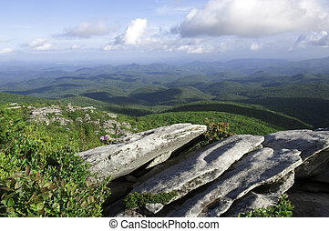 Blue Ridge Parkway - Beautiful view looking out from the...