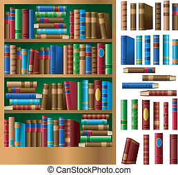 Bookshelf - A shelf full of books. Also included are every...