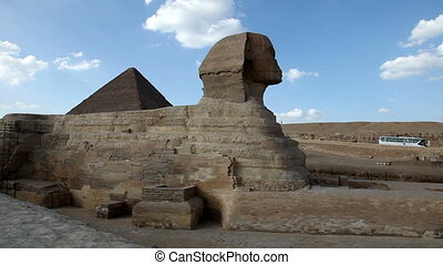 Sphinx and Great Pyramids - Time Lapse