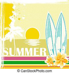 sketchy summer card