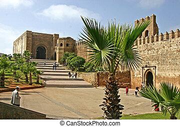 The Ouida kasbah at Rabat - View at the Ouida Kasbah at...