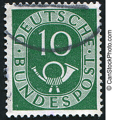 stamp - GERMANY - CIRCA 1951: stamp printed by Germany,...