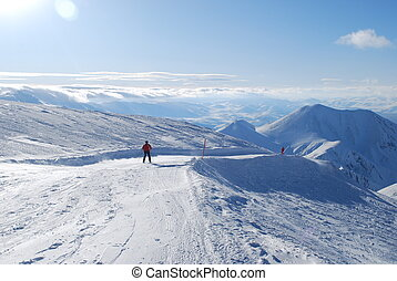 snow mountains in Turkey Palandoken Erzurum