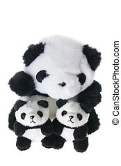 Panda Soft Toy on White Background