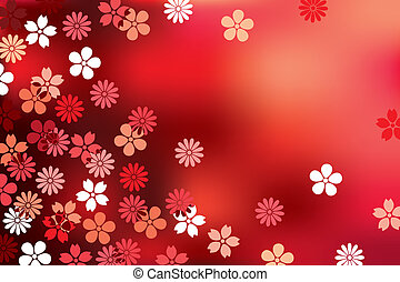 Abstract red blossom background
