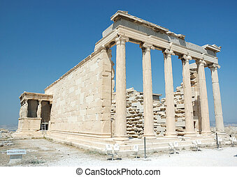 Famous world landmark - ruins of acropolis in Athens,Greece