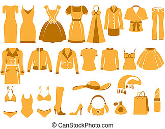 Womans clothes icons - Womans clothes, Fashion and Accessory...