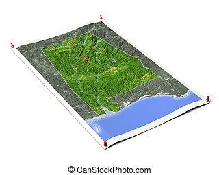 Alabama on unfolded map sheet. - Alabama on unfolded map...