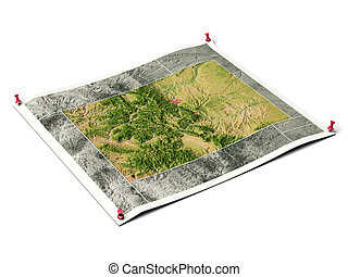 Colorado on unfolded map sheet - Colorado on unfolded map...