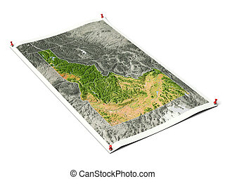 Idaho on unfolded map sheet.