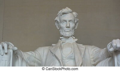 Close-up of Lincoln Memorial in Washington, DC u2013 Zoom...