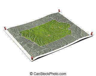 Iowa on unfolded map sheet. - Iowa on unfolded map sheet...