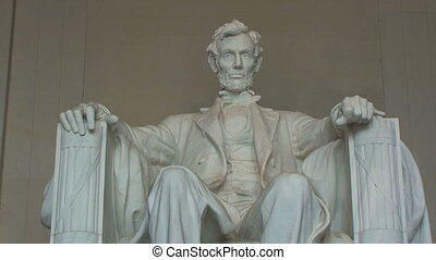 Lincoln Memorial in Washington - Close-up of Lincoln...