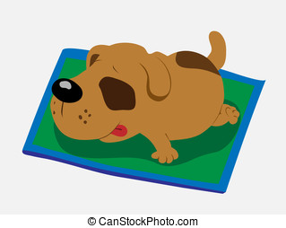 sleeping dog cartoon