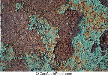 texture of old paint on the rusty metal - background paint...