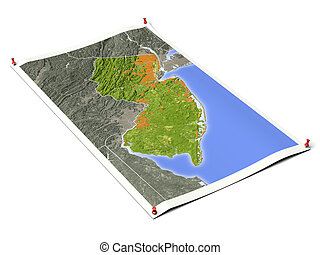 New Jersey on unfolded map sheet. - New Jersey on unfolded...
