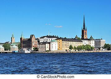Stockholm, island Riddarholmen - Stockholm, Sweden. Very...