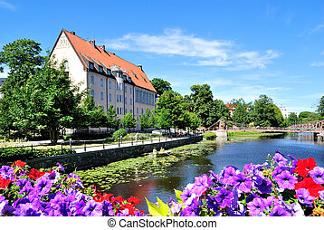 Flowering Uppsala. Sweden - Very beautiful and cozy town in...