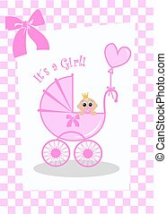 newborn baby girl card