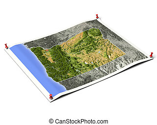 Oregon on unfolded map sheet - Oregon on unfolded map sheet...