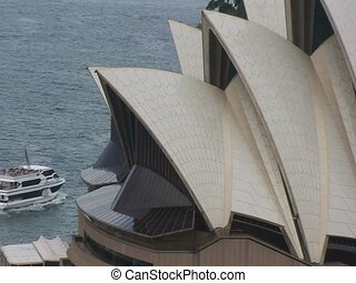 Aerial Sydney Opera House Building