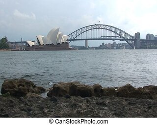 Sydney Opera House Building and Harbor Bridge
