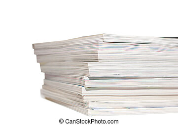 heap of magazines - isolated large heap of magazines on...