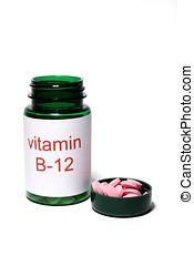 B-12 - Vitamin B-12 white background