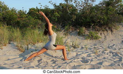 Young Female Doing Yoga Poses