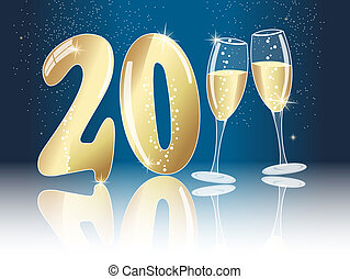 New years eve concept for 2011