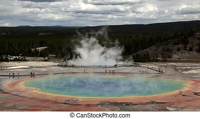 Grand Prismatic Spring, Yellowstone - Grand Prismatic Spring...