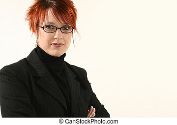 Business Woman with Glasses - Beautiful 30 year old business...