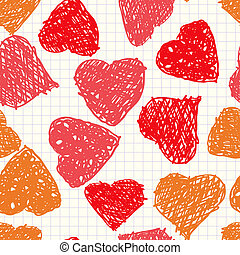 Background with hearts as picture of baby - Valentine's day...