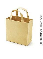 Brown empty paper bag