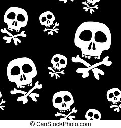 Abstract background with skulls. Seamless pattern. Vector...