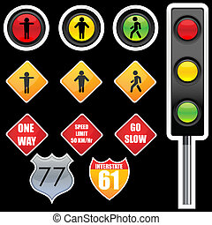 traffic signs - illustration of traffic signs