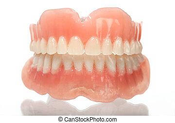 Lleno, Conjunto, acrílico, dentadura