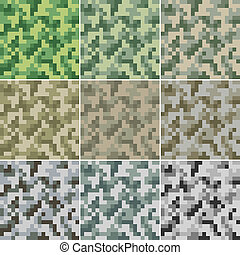 Camouflage seamless - Illustration of digital camouflage #2...