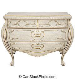 nightstand - beautiful classic nightstand. isolated on...