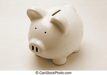 小豬, 銀行