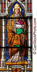 Pope Gregorius the Great - Church window in the Dom of...