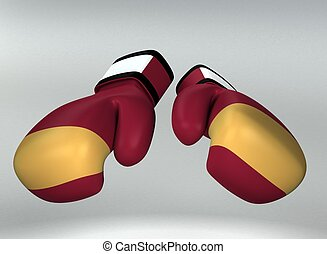 Boxing gloves 3d rendered