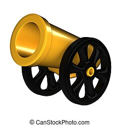 Cannon 3d rendered